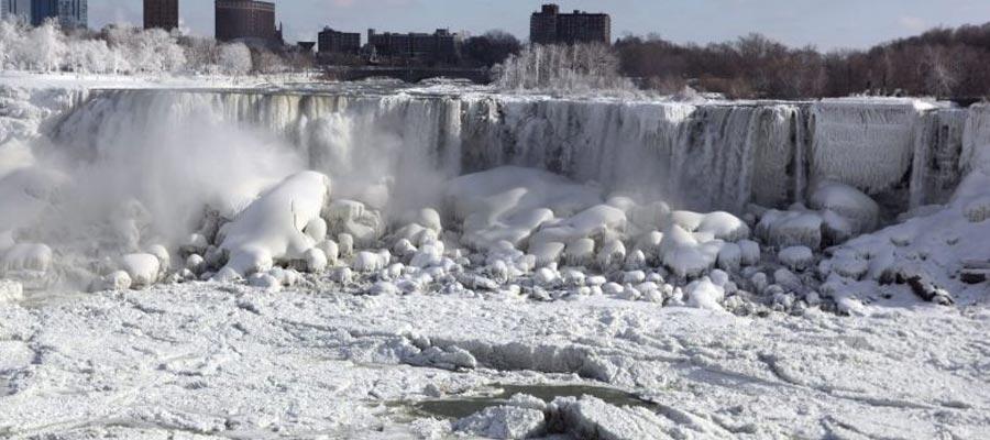 Record low temperatures in North America